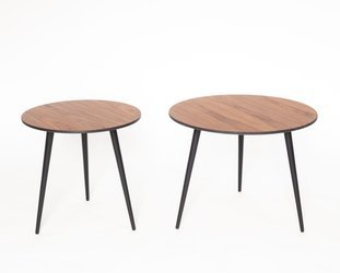 PAWI Set of 2 Round Coffee Table 57cm + 45cm