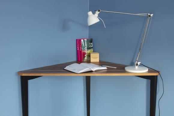 NAJA Corner Desk W114 x L85 x H75cm OAK Black Legs