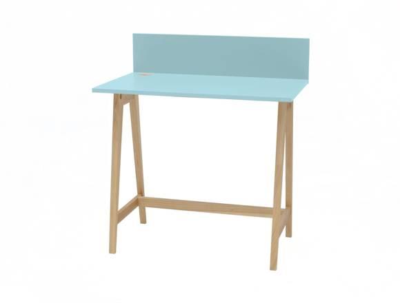 LUKA Ashwood Writing Desk 85x50cm / Light Turquoise