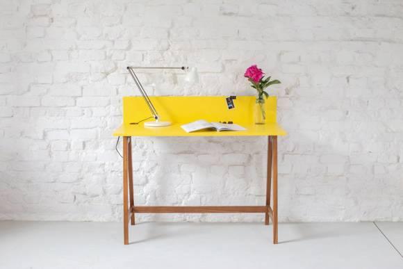 LUKA Writing Desk 110x50cm Oak / White