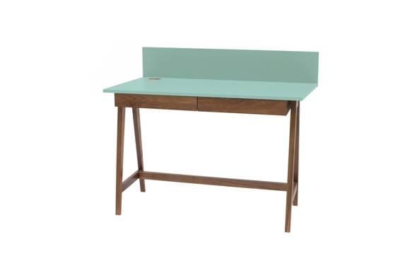 LUKA Writing Desk 110x50cm with Drawer Oak / Mint