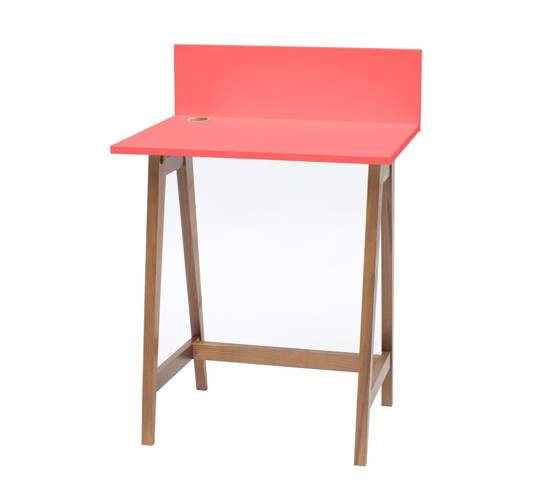 LUKA Writing Desk 65x50cm Oak / Living Coral