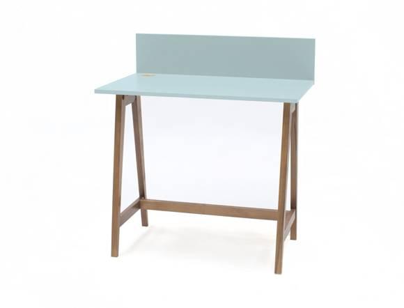 LUKA Writing Desk 85x50cm Oak / Light Turquoise