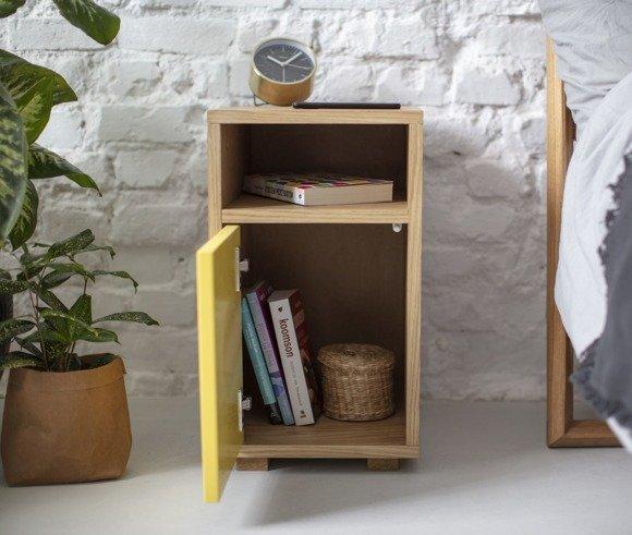 SLIM Bedside Table W 30cm x D 40cm - Yellow