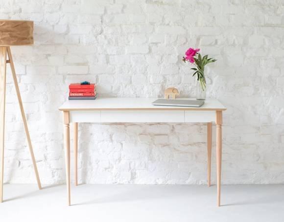ToDoma Writing Desk W 120 x D 58cm Turned Leg White