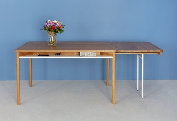 ZEEN Extendable Table with Shelf 200x90x75cm - Oak