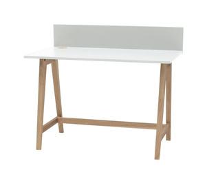 Luka Eschenholz Schreibtisch 110x50cm / Weiß