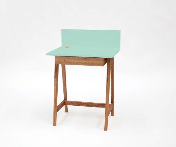 LUKA Schreibtisch 65x50cm mit Schublade Eiche / Minze