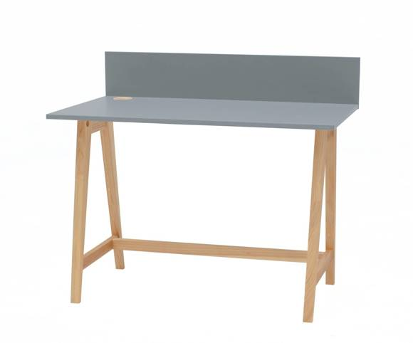 Luka Eschenholz Schreibtisch 110x50cm / Dunkelgrau