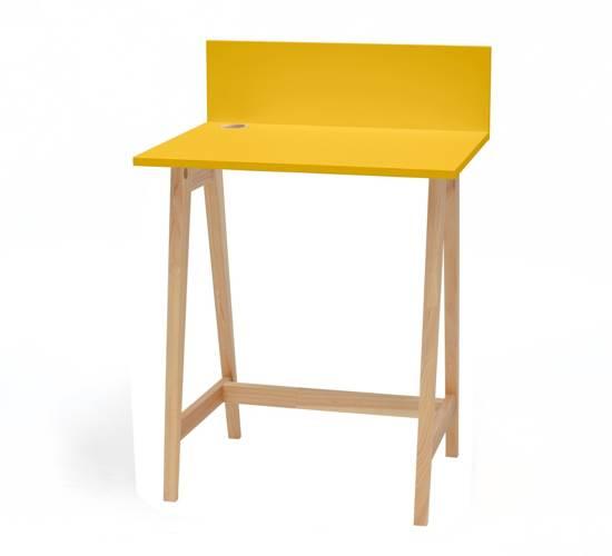 Luka Eschenholz Schreibtisch 65x50cm / Gelb