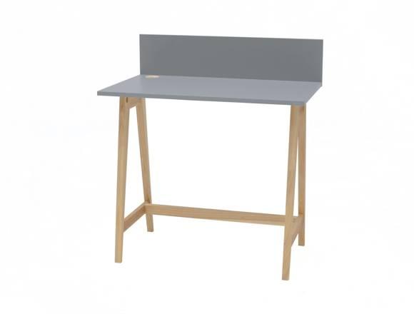 Luka Eschenholz Schreibtisch 85x50cm / Dunkelgrau