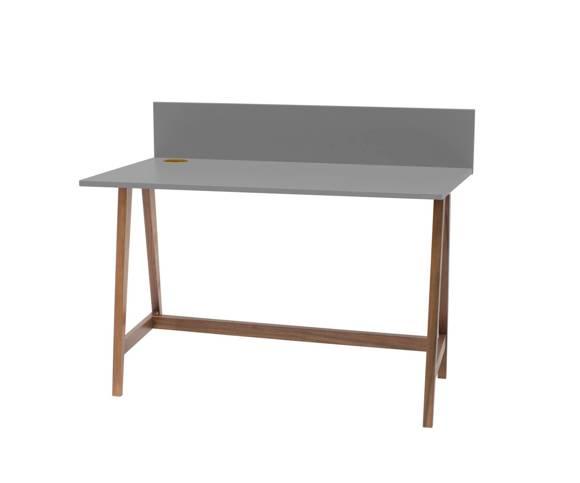 Luka Schreibtisch 110x50cm Eiche / Dunkelgrau