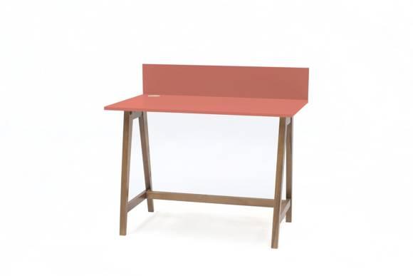 Luka Schreibtisch 110x50cm Eiche / Koralle