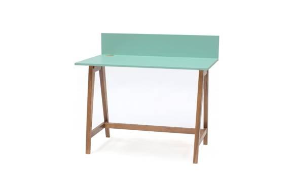 Luka Schreibtisch 110x50cm Eiche / Minze