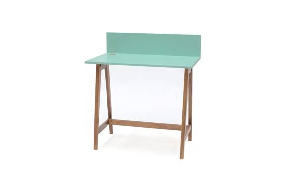 Luka Schreibtisch 85x50cm Eiche / Minze