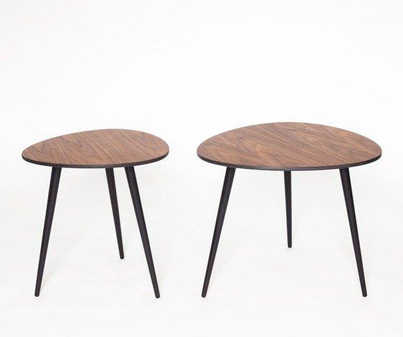 PAWI PICK Runde Couchtisch-Set 55x50cm + 42x39cm